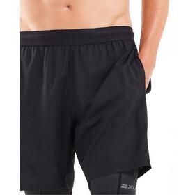 """2XU Xvent 7"""" 2en1 Shorts Compresión Hombre, negro"""